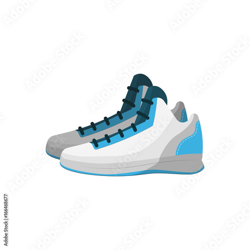 Sport sneakers isolated vector icon. Athletic equipment, healthy lifestyle, fitness activity vector illustration.