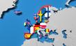 European Economic Area 3d render map