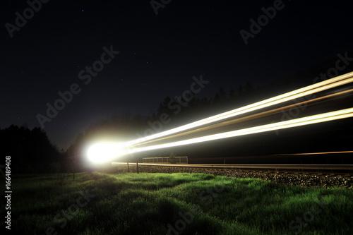 Foto op Aluminium Nacht snelweg lightspeed