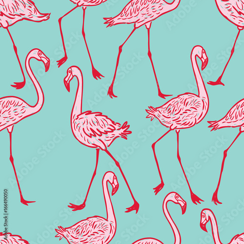 pattern of the striding flamingos