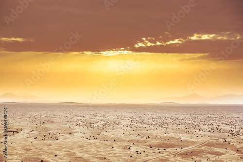 Aeriel View on Desert Landscape