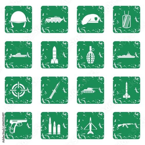 Keuken foto achterwand Vlinders in Grunge Military icons set grunge