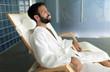 Man enjoying wellness spa resort treatments