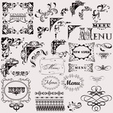 Set of hand drawn vector flourishes for design - 166530071