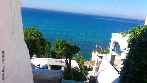 Foto op Plexiglas Marokko Hafa Cafe View Tangier