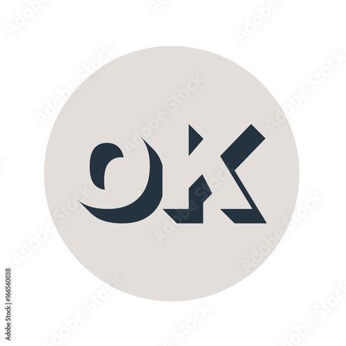 Papiers peints Positive Typography Logotipo espacio negativo OK en circulo gris