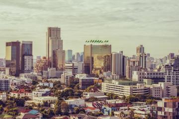 High angle view of Bangkok Thailand.