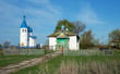 Old and the new church in the village of Russia