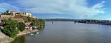 Panoramic view of Petrovaradin Fortress and Danube river - 166568483