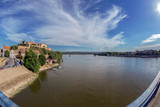 Panoramic view of Petrovaradin Fortress and Danube river - 166568485