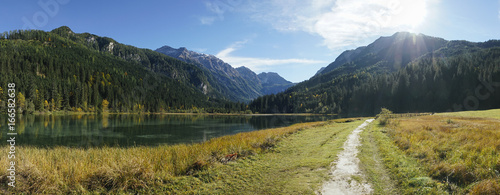 Lake Gosau in austria in autumn