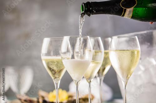 Leinwandbild Motiv Champagner