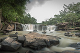Tad-tond Waterfall in the national park ,Thailand on rainy season