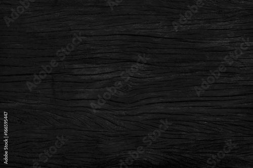 black wood background texture. Blank for design - 166595447