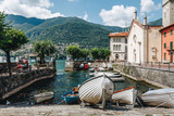a nice village at the como lake. Lombardy. Italy - 166602069