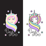 Unicorn vector icon