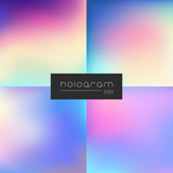 Hologram dark gradient set - 166602634