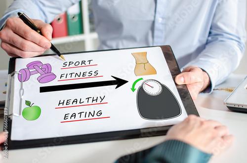 Weightloss concept on a clipboard
