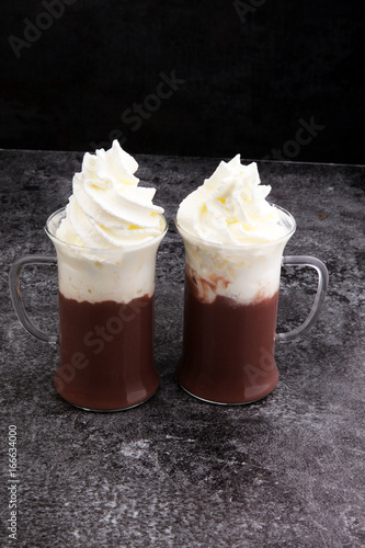 coffee chocolate smoothie with coconut whipped cream. toning, ic Poster