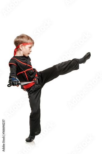 Practicing leg kick Poster