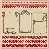Art Nouveau frames and motifs