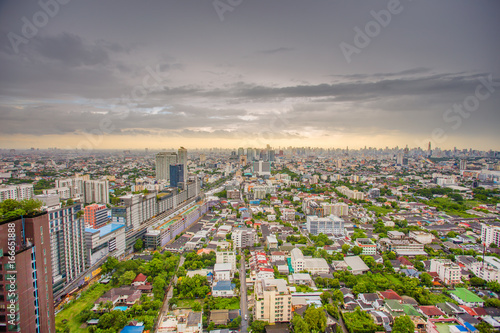 View from tall buildings in Thailand