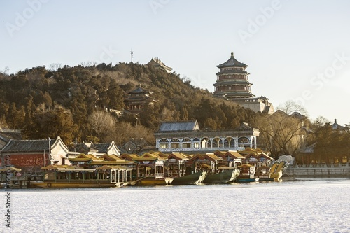 Foto op Canvas Peking Summer Palace in winter