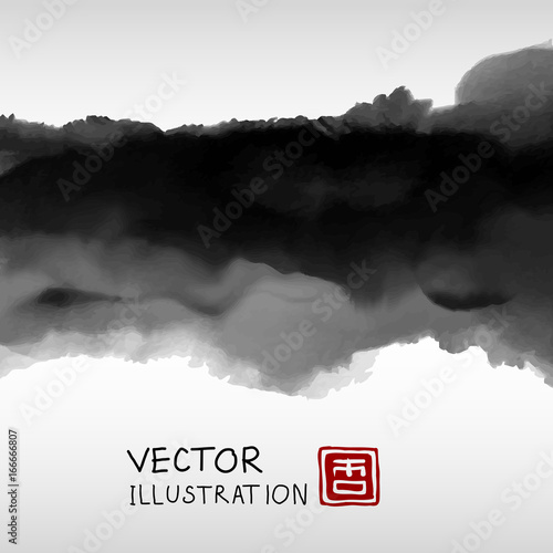 Abstract ink background. Marble style.
