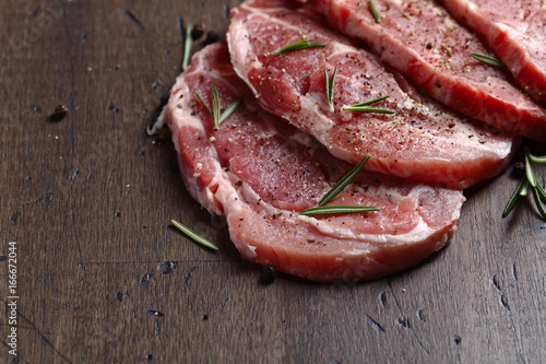 Pork steak with rosemary and pepper Poster