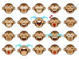 The cute monkey emoji for website or chat applications vector