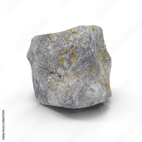 Tuinposter Edelsteen Stone isolated on white. 3D illustration, clipping path