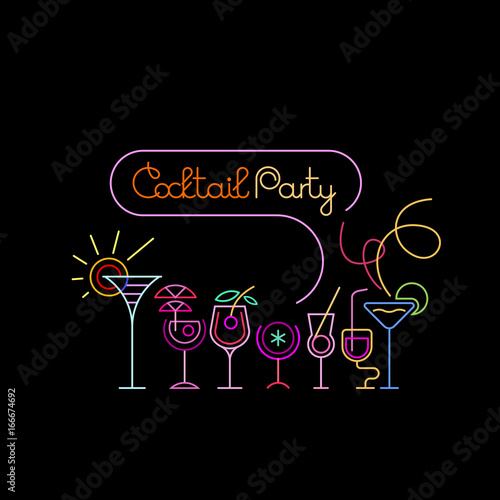 Cocktail Party Poster Design