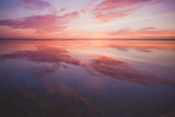 Colorful beautiful sunset over ocean surface