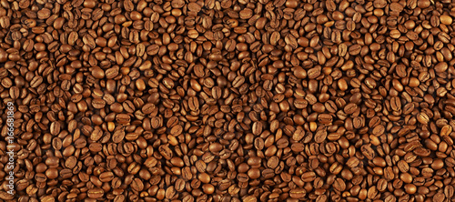 Poster Koffiebonen Coffee beans texture, Coffee background, top view with copy space. coffee and ground, coffee beans background.