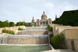 Fontanna wodna Narodowego Muzeum Sztuki Katalonii - Barcelona - Hiszpania