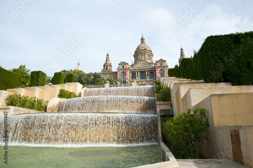 Water Fountain of National Art Museum of Catalonia - Barcelona - Spain