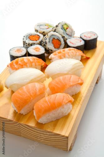salmon sushi set. Japanese food