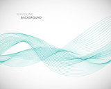 Elegant abstract vector wave line futuristic style background template - 166720279