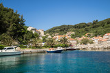 Sudurad is one of the villages of the island of Sipan (off the coast of Dubrovnik in the Adriatic Sea.) - 166721412