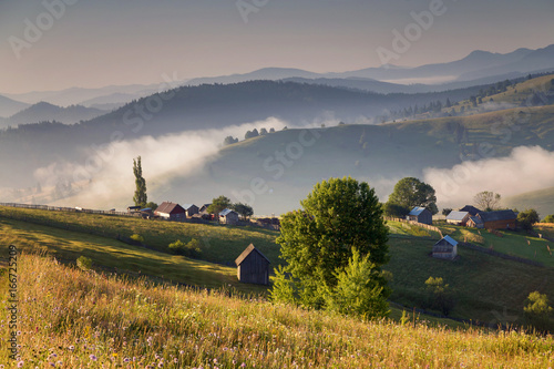 Summer sunrise in Bucovina, Romania