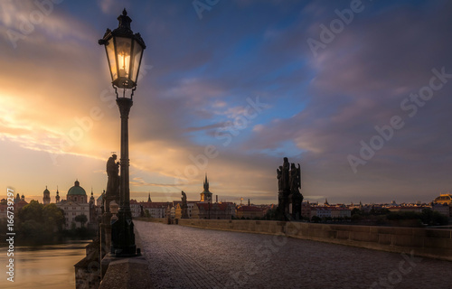 Morning on Charles Bridge