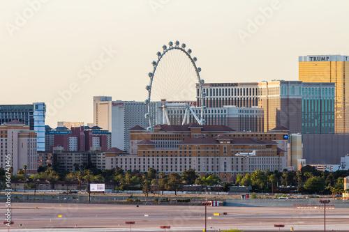 Deurstickers Las Vegas Las Vegas panorama