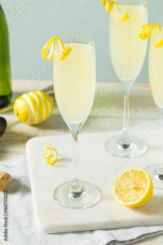 Boozy Bubbly Lemon French 75 Cocktail Poster