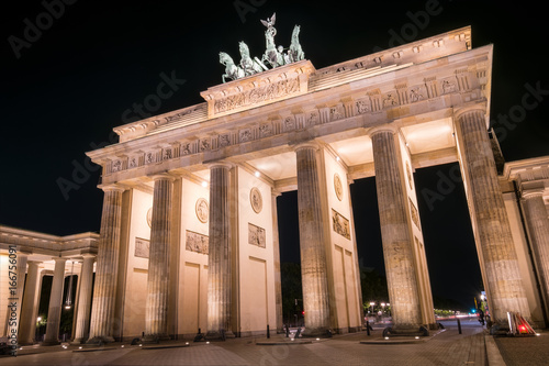 Brandenburger Tor, Berlin bei Nacht
