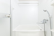 New white bathroom with bathtub and shower