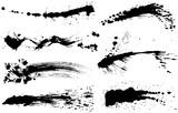 書道 しぶき 毛筆イラスト - 166768866