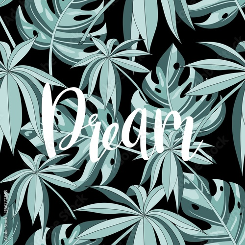 Summer, copy text from a tropic design. - 166772868