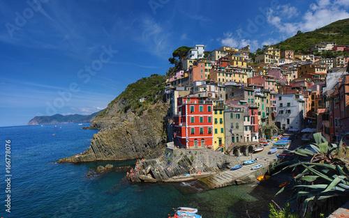 Riomaggiore summer resort in Cinque Terre, Italy