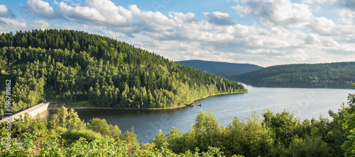Foto op Canvas Panoramafoto s Panorama Talsperre Eibenstock