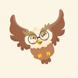 Cute cartoon hawk vector illustration.